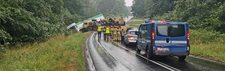 Wypadek z udziałem pojazdu amerykańskiej armii. Są ranni